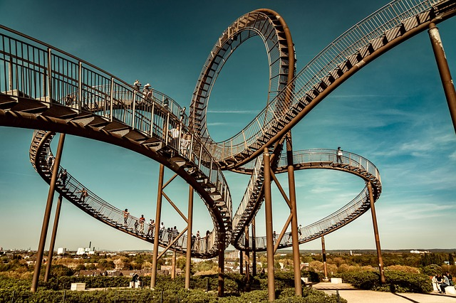 The roller coaster at Duisburg by Norbert Waldhausen from Pixabay