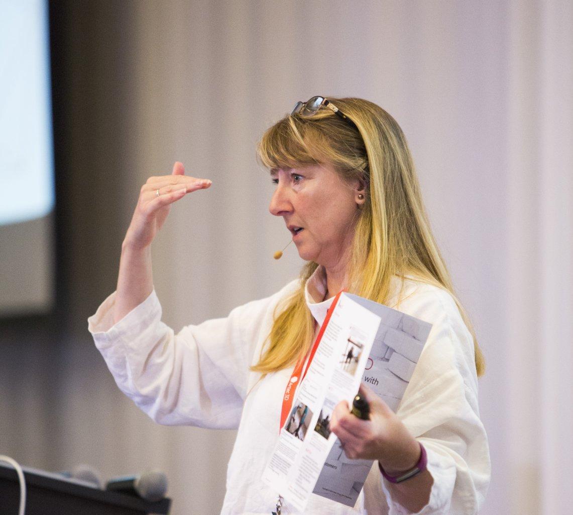 Photo of Jane Morgan presenting